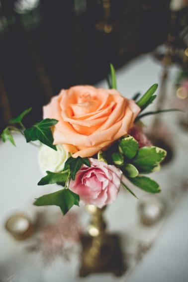 A Vintage Peach and Blush Memphis Wedding via TheELD.com