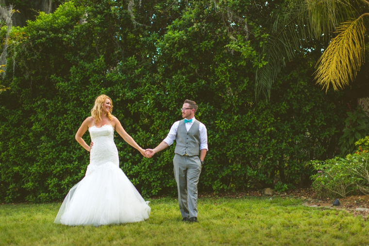 Eclectic Pink and Aqua Wedding via TheELD.com