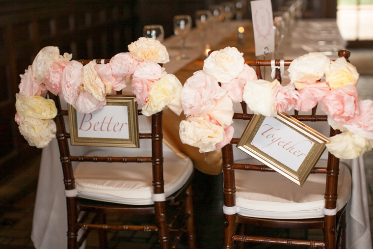 Vintage Romantic Blush and Gold Wedding via TheELD.com