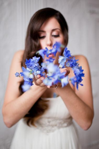 Mediterranean Inspired Orange & Blue Wedding Ideas via TheELD.com