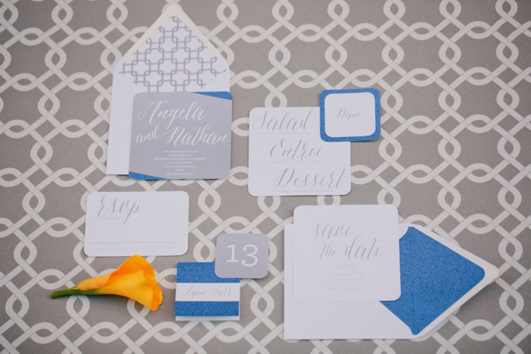 Modern Yellow and Blue Wedding Ideas via TheELD.com