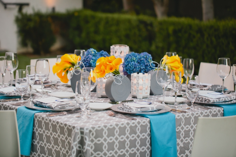 Modern Yellow and Blue Wedding Ideas | Every Last Detail