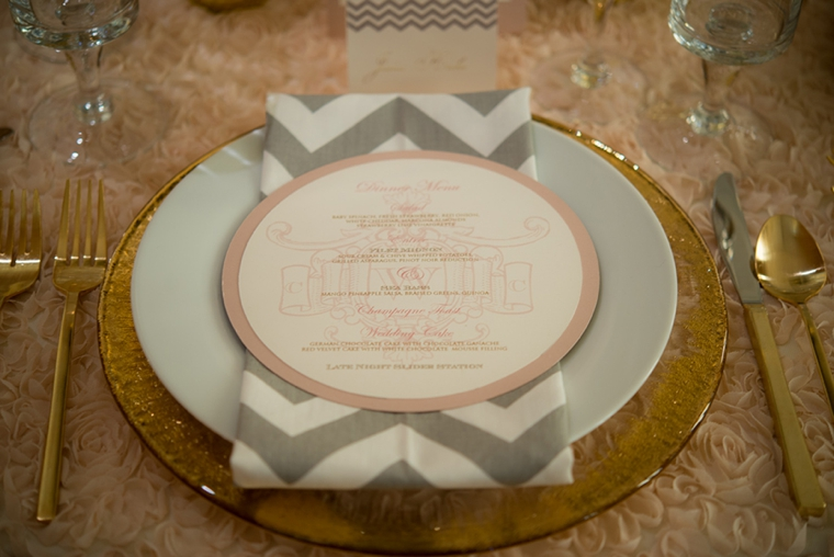Modern Elegant Blush and Gold Wedding Inspiration via TheELD.com