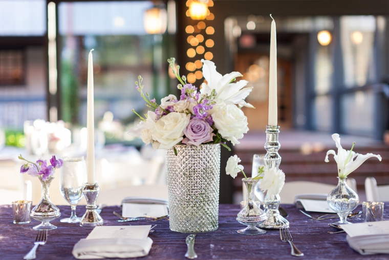 Romantic & Elegant Lavender Wedding via TheELD.com
