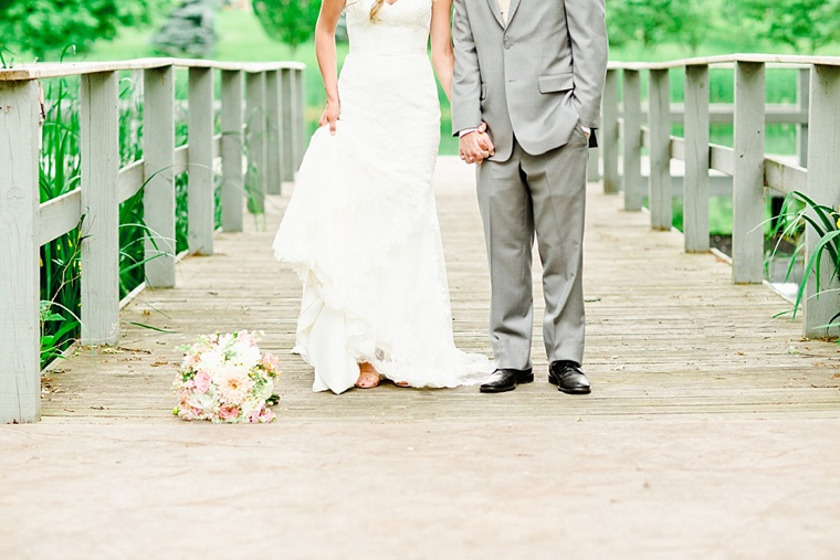 Romantic Blush & Peach Garden Wedding  via TheELD.com