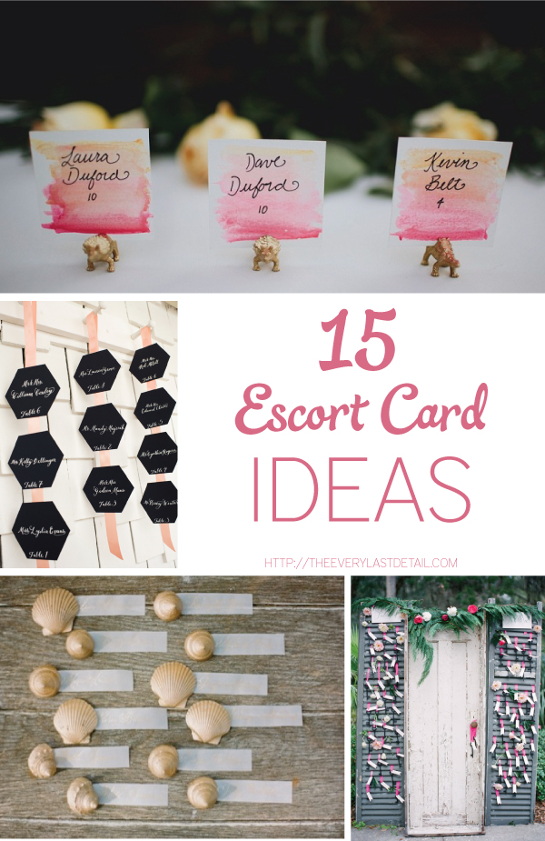 15 Escort Card Ideas via TheELD.com