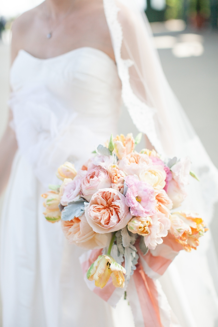 A Modern Chic Peach & Coral Wedding via TheELD.com