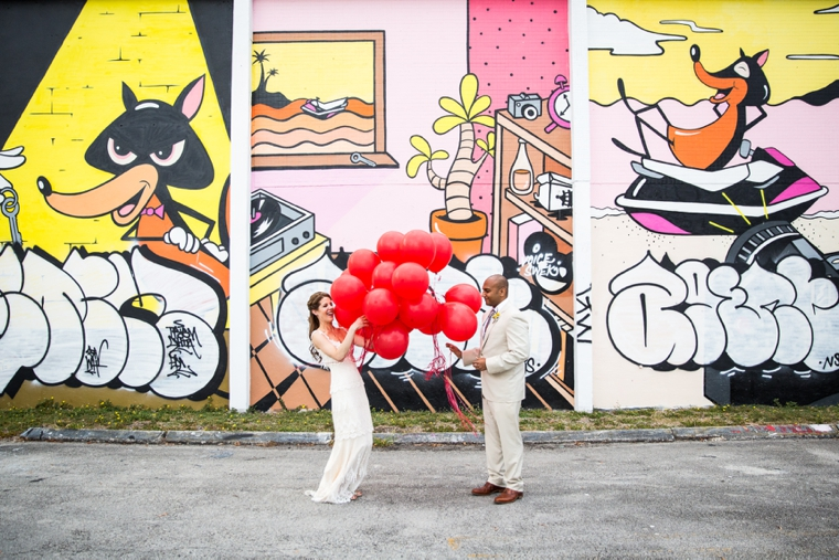 An Eclectic, Colorful, & Unique Wedding via TheELD.com