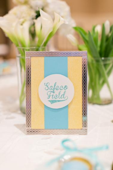 Baseball Themed Aqua and Yellow Wedding | Every Last Detail