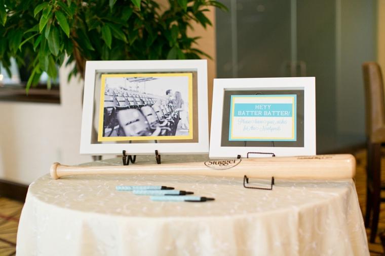 Baseball Themed Aqua and Yellow Wedding via TheELD.com
