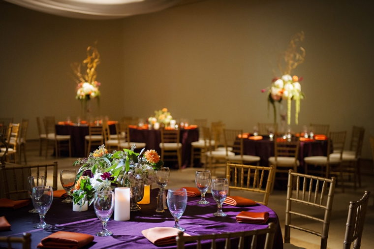 An Elegant Eggplant and Sage Wedding via TheELD.com