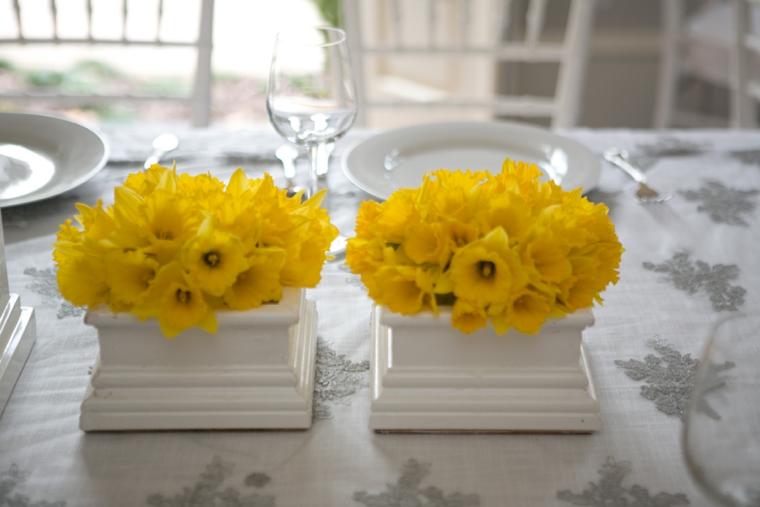 Modern Chic Yellow and White Wedding Ideas via TheELD.com
