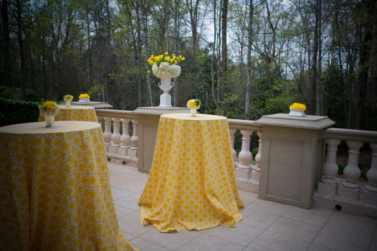 Modern Chic Yellow and White Wedding Ideas via TheELD.com