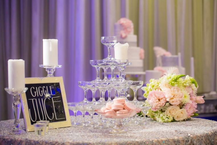 Pink & Silver Great Gatsby Wedding Ideas via TheELD.com