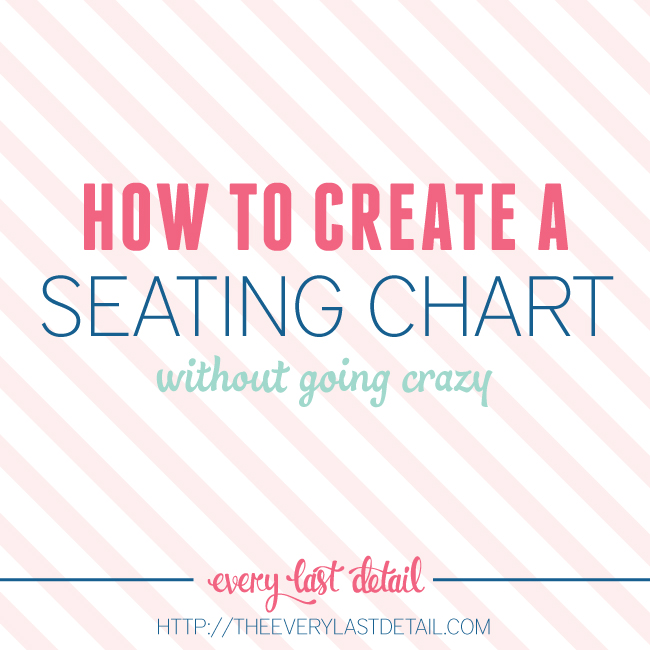 how to create an assigned seating chart without going crazy