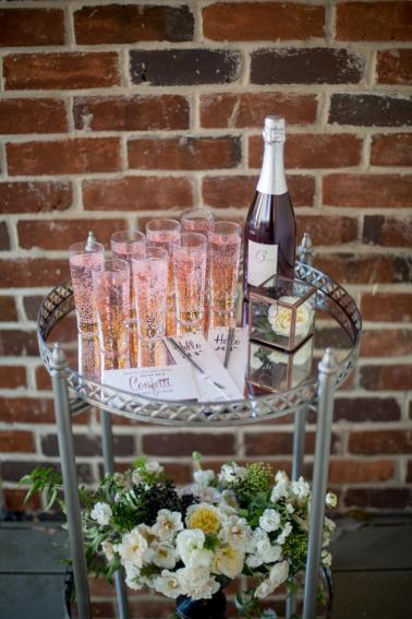 Glitzy Bronze New Years Eve Wedding Inspiration via TheELD.com