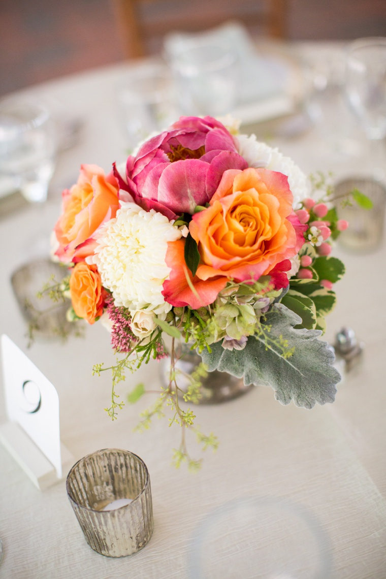 An Elegant Pink and Orange Wedding via TheELD.com