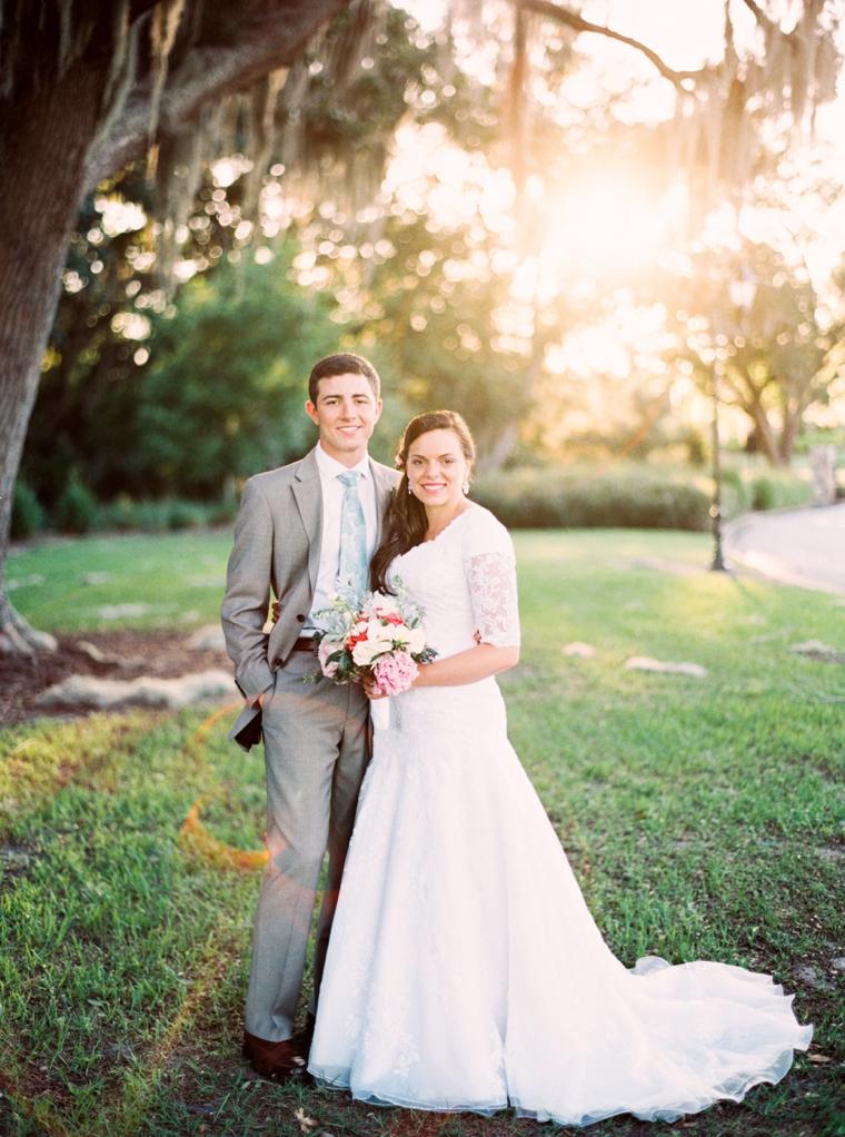 An Eclectic Mint and Pink Garden Wedding via TheELD.com