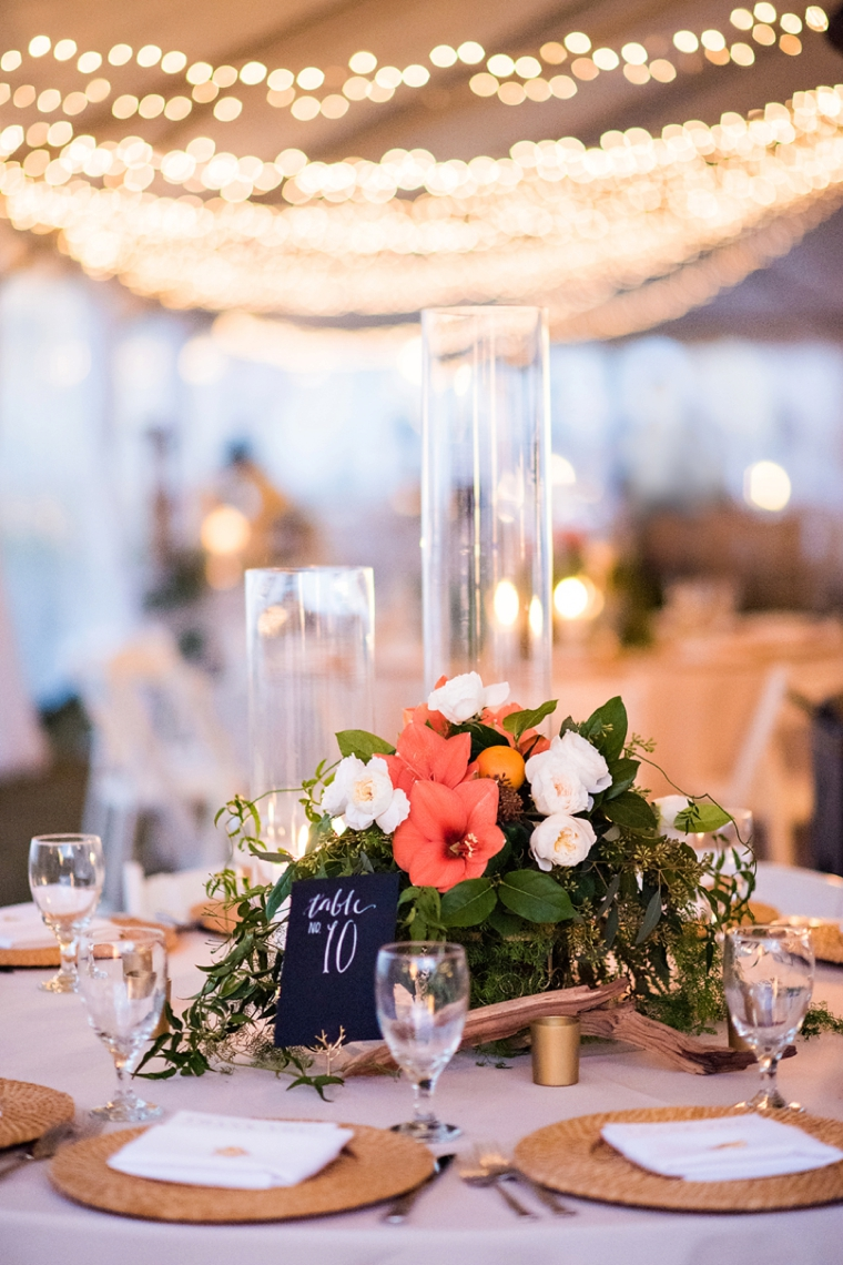 Natural Chic Navy And Orange Wedding Every Last Detail