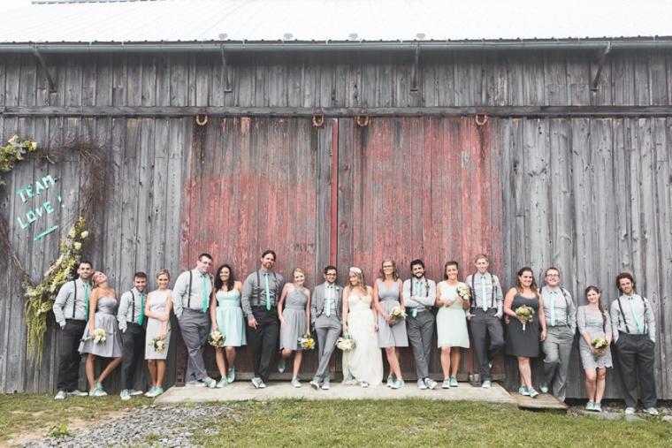 Rustic Eclectic Aqua and Gray Wedding via TheELD.com