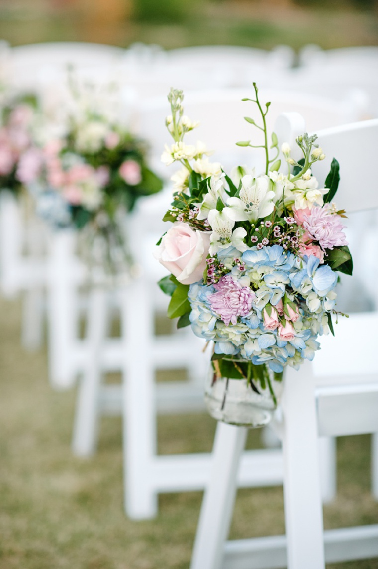 Soft Pink & Pale Blue Vintage Garden Wedding