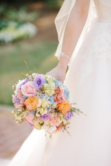 Soft Pink & Pale Blue Vintage Garden Wedding  via TheELD.com