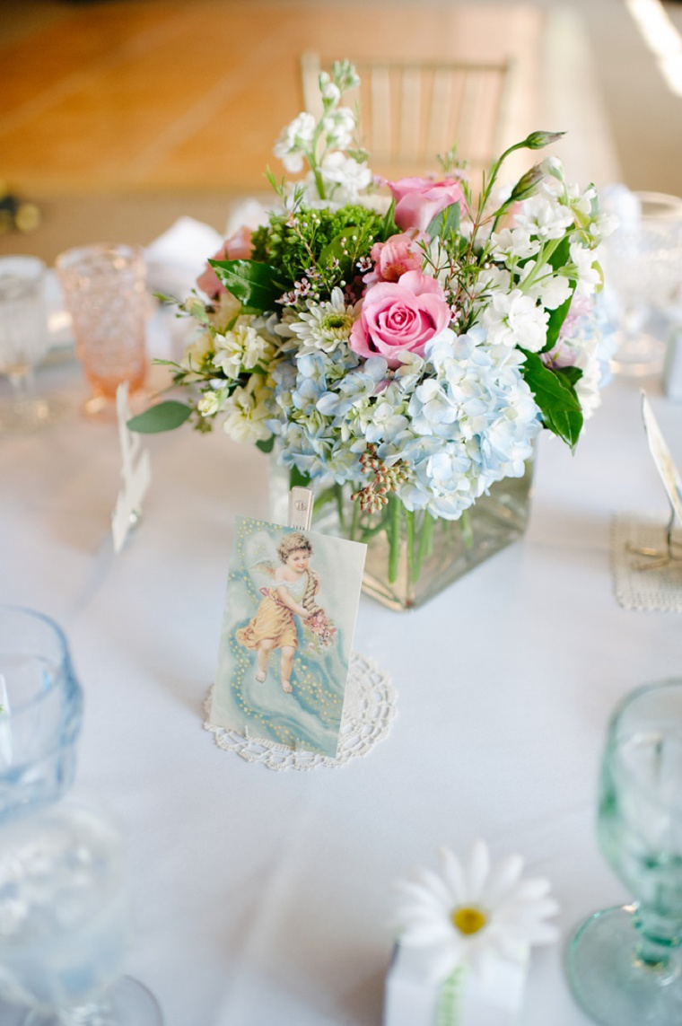 soft pink  u0026 pale blue vintage garden wedding