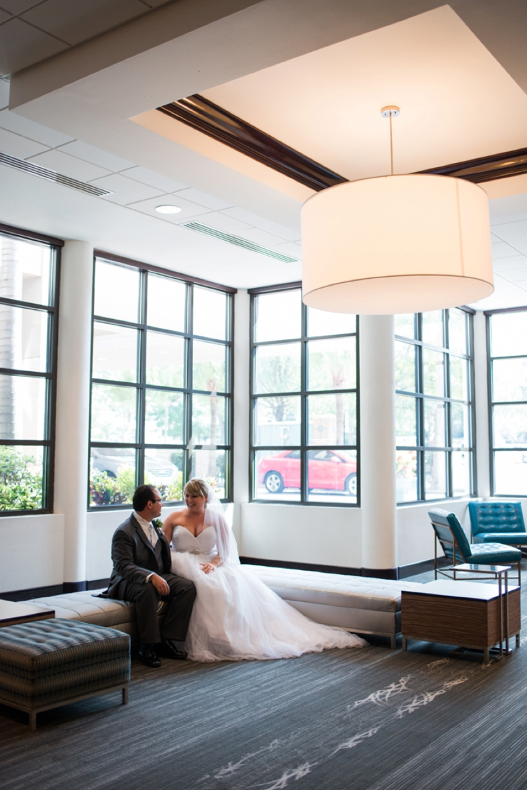 A Modern Pink Watercolor Wedding via TheELD.com