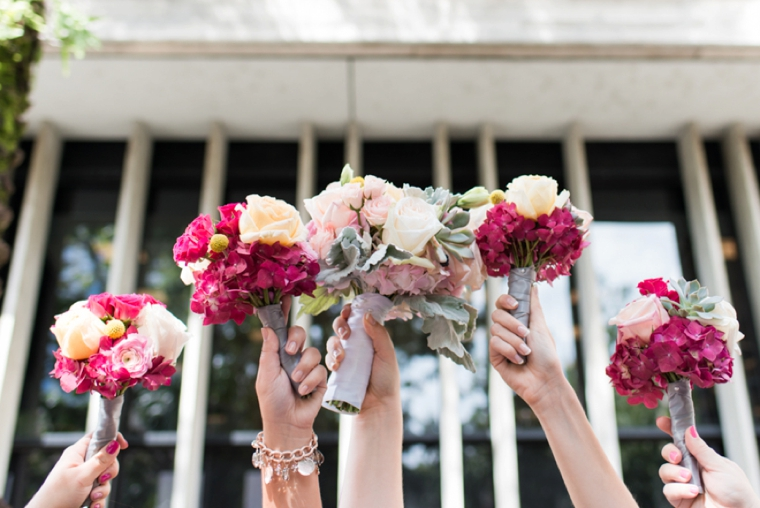 A Modern Pink Watercolor Wedding via TheELD.com