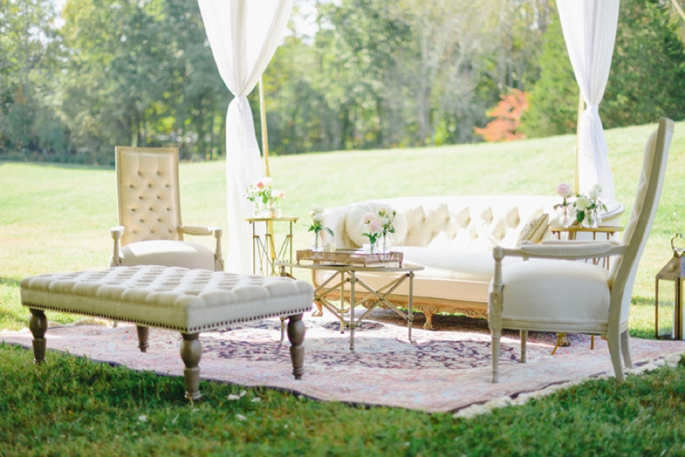 A Vintage Inspired Garden Wedding via TheELD.com