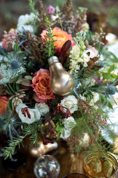 Eclectic Yellow, Plum & Marsala Wedding Ideas via TheELD.com