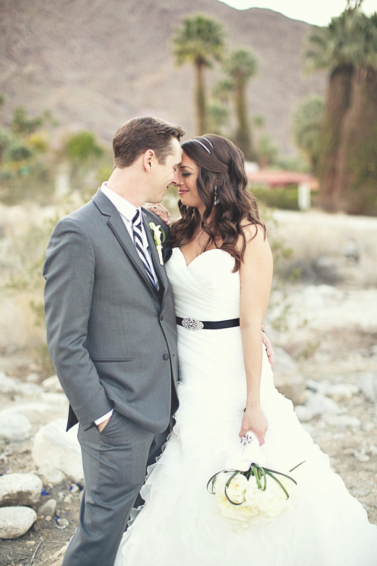 A Modern Yellow and Gray Palm Springs Wedding via TheELD.com