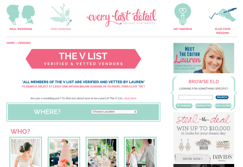 How To Find Your Perfect Wedding Vendor Team via TheELD.com