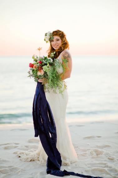 Vintage Boho Wedding Inspiration via TheELD.com
