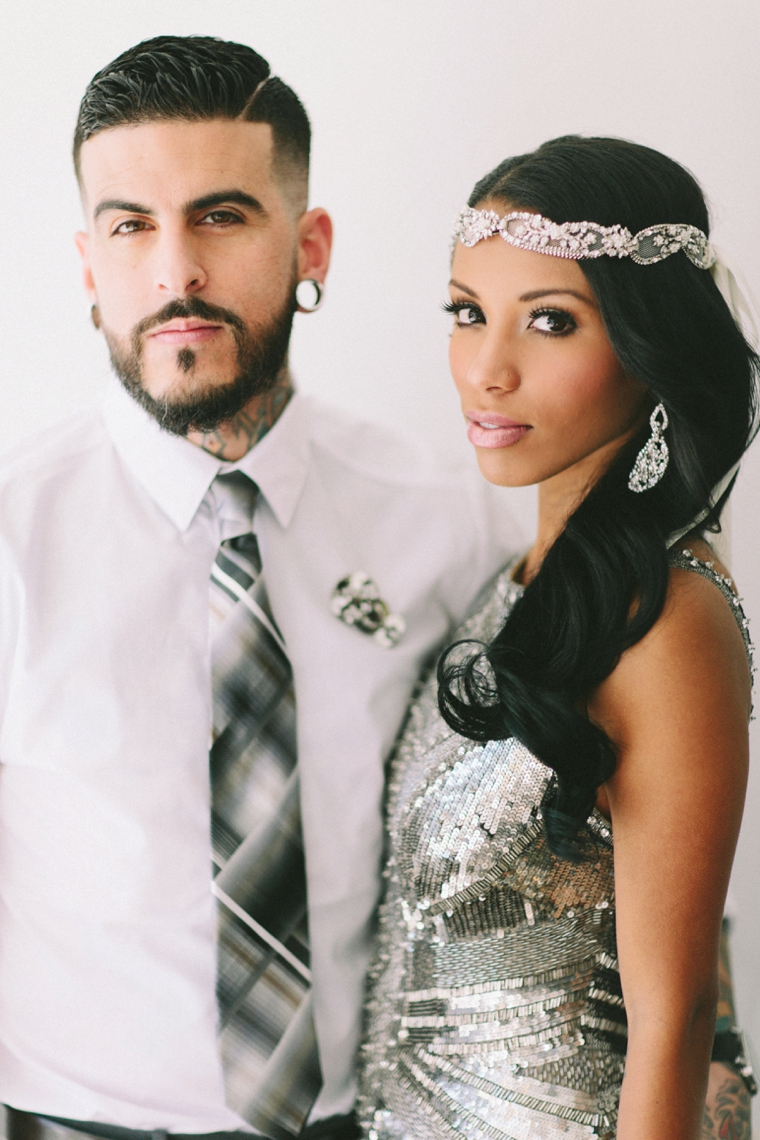 Chic Modern & Industrial Wedding Inspiration via TheELD.com