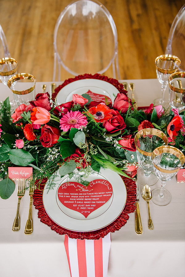 Pink And Red Valentine S Day Wedding Ideas Every Last Detail