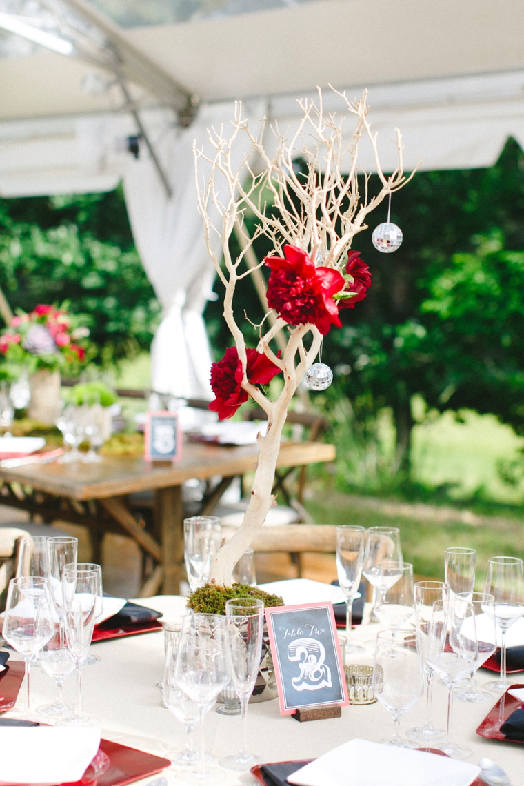 An Eclectic & Unique Red Wedding via TheELD.com