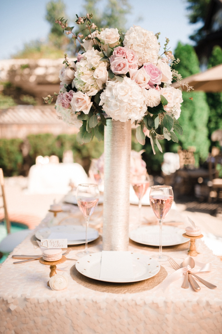 Blush and gold wedding inspiration every last detail blush and gold wedding inspiration via theeld junglespirit Image collections