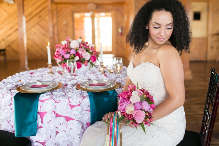 Bright, Bold Pink and Teal Wedding Ideas via TheELD.com