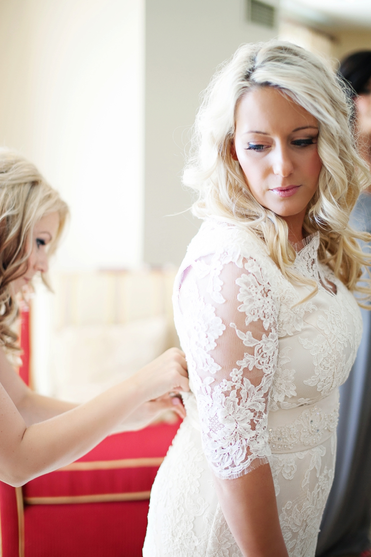 Modern Chic Champagne and Pink Wedding via TheELD.com