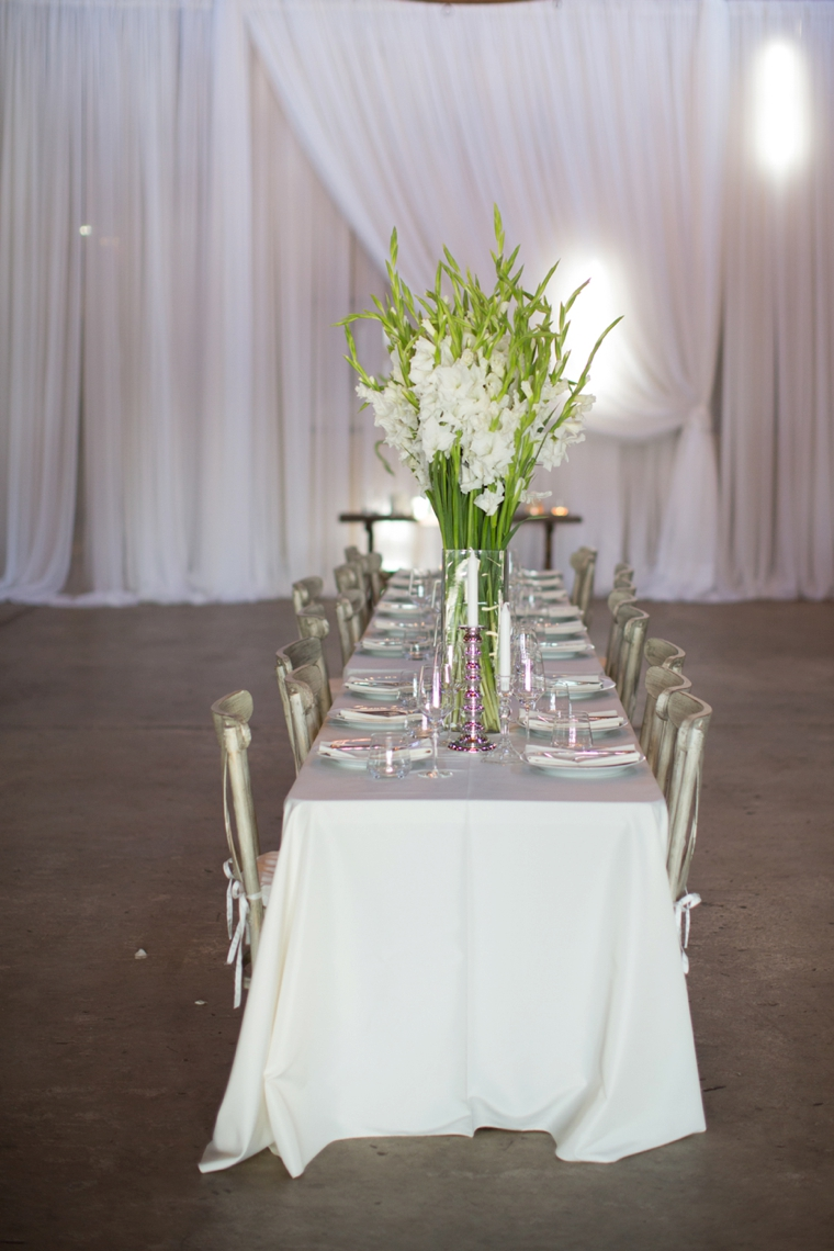 Modern And Elegant White Wedding Every Last Detail