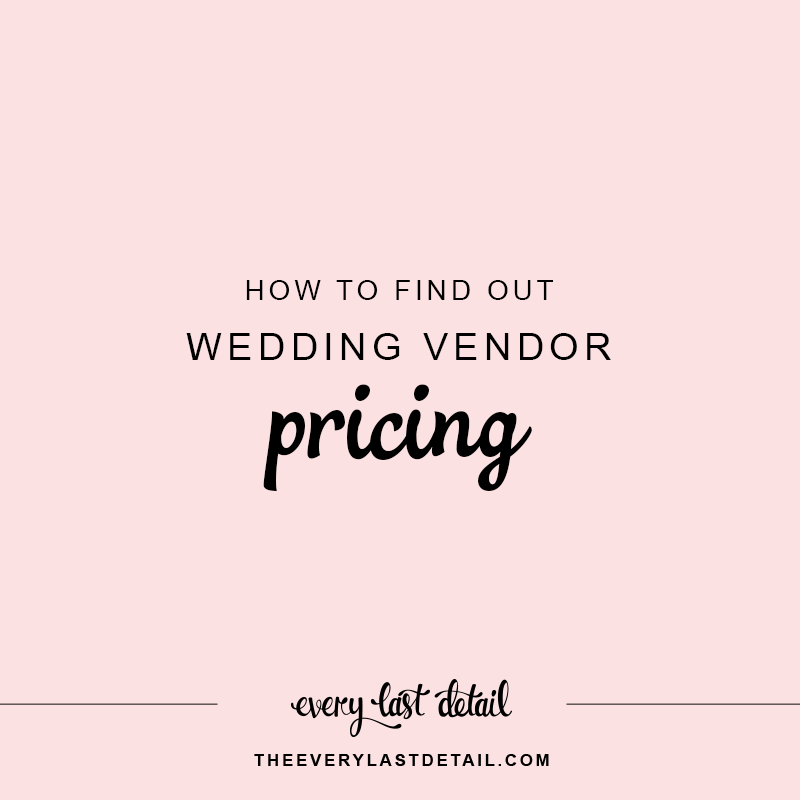 How To Find Out Wedding Vendor Pricing via TheELD.com