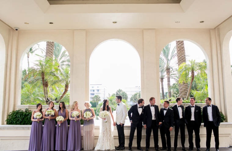 An Elegant Garden Inspired Lavender Wedding via TheELD.com