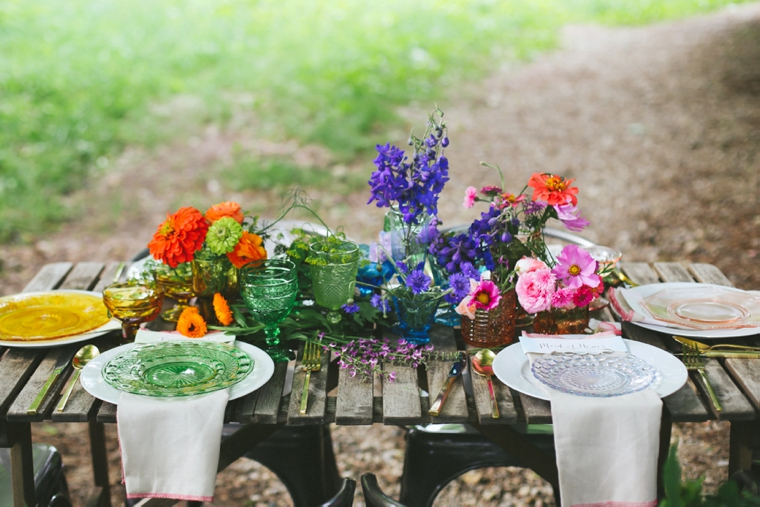 Colorful Bridal Shower Inspiration via TheELD.com