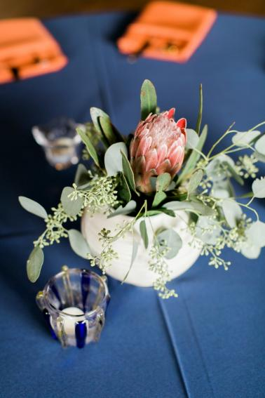 An Eclectic Navy and Orange Wedding via TheELD.com
