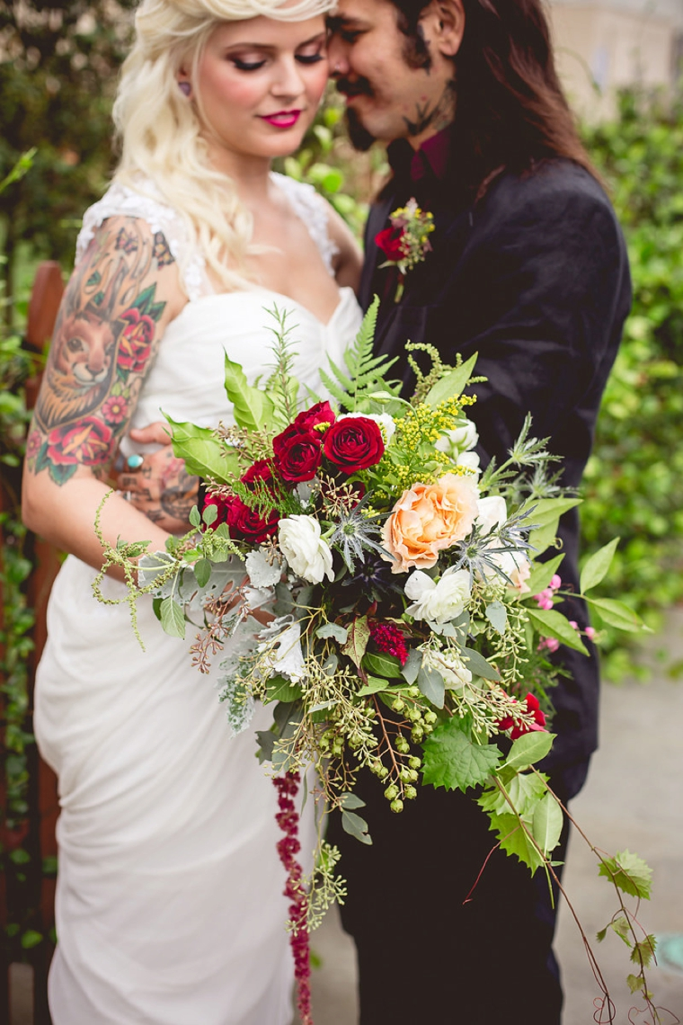 Eclectic Rocker Chic Wedding Ideas via TheELD.com