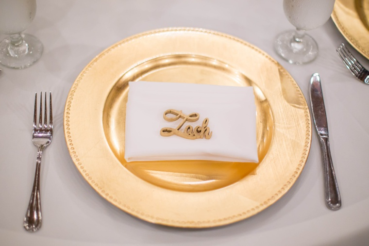 Elegant Gold and White Garden Wedding via TheELD.com