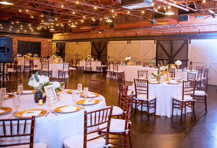 Elegant Gold and White Garden Wedding via TheELD.com