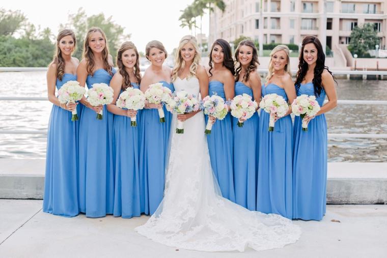 Romantic Pink and Blue Wedding via TheELD.com