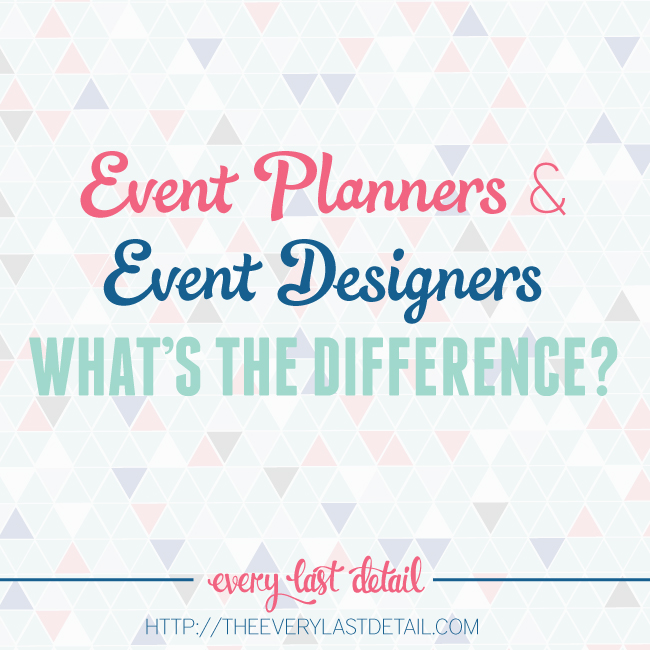 the difference between event planners and event designers